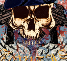Defensor Fortis Skull Urban Sticker