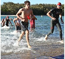 Kingscliff Triathlon 2011 Swim leg P162 by Gavin Lardner
