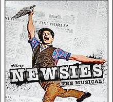Colored Newsies Playbill by StarrTechKiwi