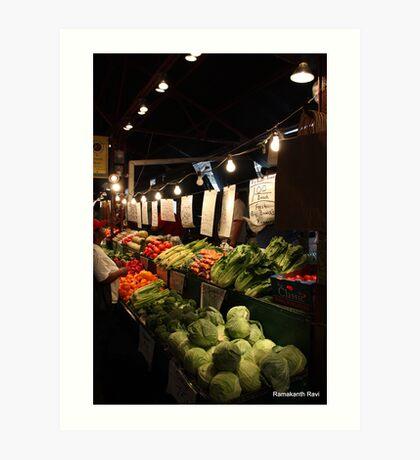 Soulard Farmers Market... Art Print