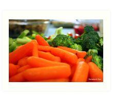 Eat your veggies... Art Print