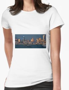 0778 Melbourne at Dusk Womens Fitted T-Shirt