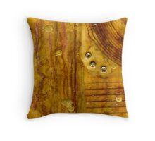 Brass Tokens III Throw Pillow