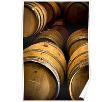 Wine barrels Poster
