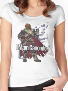 I Main Ganondorf - Super Smash Bros. Women's Fitted Scoop T-Shirt
