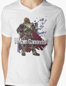 I Main Ganondorf - Super Smash Bros. Mens V-Neck T-Shirt