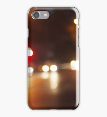 Blurred out of focus lights from cars iPhone Case/Skin