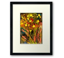 Yellow buds Abound Framed Print