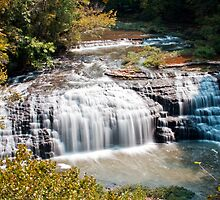 Middle Falls at Burgess Falls State Park, Sparta Tennessee by Sam Warner