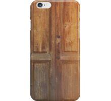 vintage wooden door iPhone Case/Skin