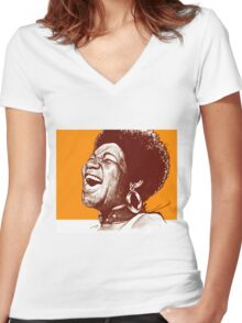 Aretha Franklin Women's Fitted V-Neck T-Shirt