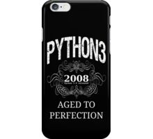 White on Black Vintage Design for Python 3 Advocates iPhone Case/Skin