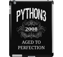 White on Black Vintage Design for Python 3 Advocates iPad Case/Skin
