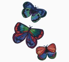 3 Bold Butterflies Kids Clothes