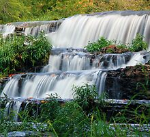 First Falls at Burgess Falls State Park, Sparta Tennessee by Sam Warner