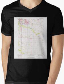 USGS Topo Map Oregon Tangent 281753 1969 24000 Mens V-Neck T-Shirt