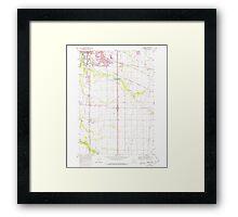 USGS Topo Map Oregon Tangent 281753 1969 24000 Framed Print