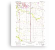 USGS Topo Map Oregon Tangent 281753 1969 24000 Canvas Print