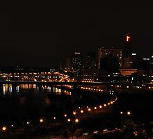 St Paul Minnesota, Night City Scape by pshootermike