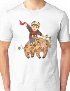 Man Astride Bull Unisex T-Shirt