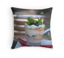 served with a glass Throw Pillow