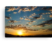 Blues Win Out Canvas Print