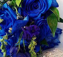 Blue Roses by Jonelle Davila