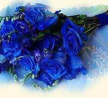 Blue Rose Buquet by Jonelle Davila