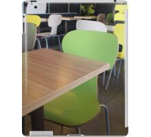 The interior of the restaurant fastfood iPad Case/Skin