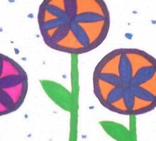 Raindrops and Flowers Sticker