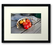 Tomatoes on the Half shell Framed Print