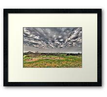 Storms Horizon Framed Print
