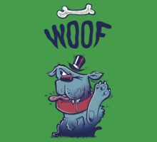 Woof Top Hat Dog Kids Tee