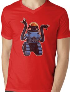 Robobrain Mens V-Neck T-Shirt