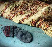15.9.2011: Woolen Stocking in Abandoned House by Petri Volanen