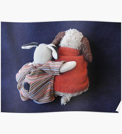 Boris & Errol Cuddles Poster