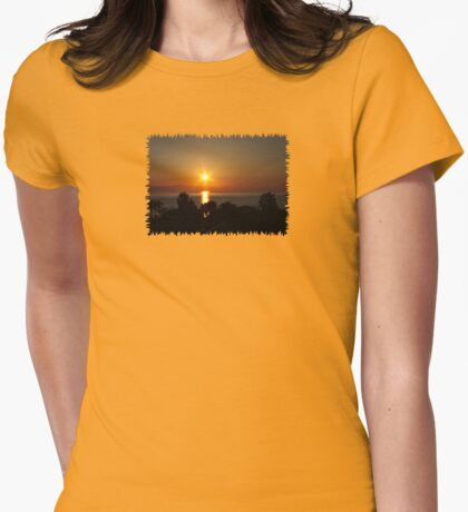 6 a.m. - JUSTART © Womens Fitted T-Shirt