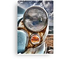 Vintage Morris Minor in Cornwall Canvas Print