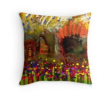 Uh Oh... There's a Woman in my Garden! Throw Pillow