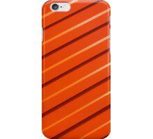Orange metal corrugated sheet metal iPhone Case/Skin