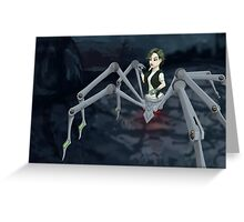 Cybernetic Spider Greeting Card