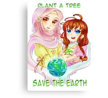 Plant a tree, save the earth Canvas Print