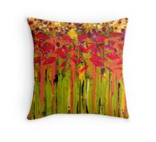More Flowers in the Field Throw Pillow
