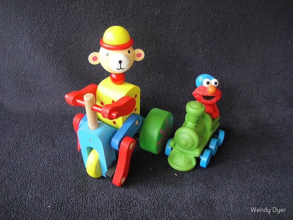 Monkey & Elmo by Wendy Dyer