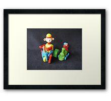 Monkey & Elmo Framed Print