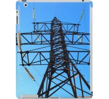 Bottom view of the high-voltage metal tower iPad Case/Skin