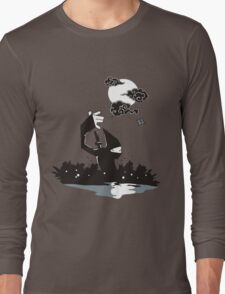 Surprise Ninja Attack on a Moonlit Night Long Sleeve T-Shirt