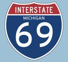 Interstate Sign 69, Michigan Kids Tee