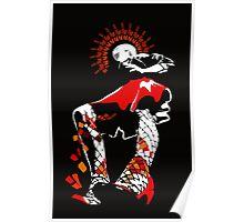 girl in a short red skirt Poster