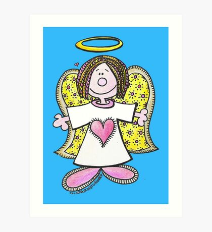 Hey Angel Baby! Art Print